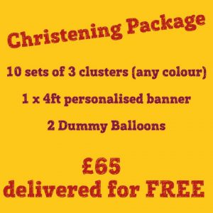 Christening balloons - the party and balloon shop golborne and lowton