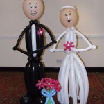 the party and balloon shop - bride and groom balloons