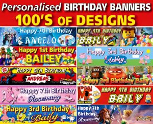 the party and balloon shop - personalised banners