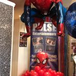 birthday balloons - spiderman themed balloons
