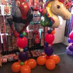 spiderman balloons and unicorn balloons - the party and balloon shop tyldesley