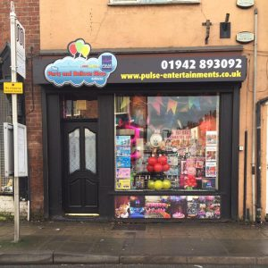 contact us - party and balloon shop golborne - pulse entertainments