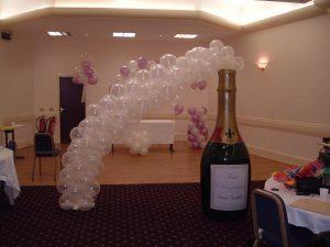 birthday balloons - champagne balloons