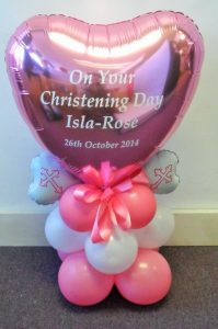 bespoke balloons - christening balloons