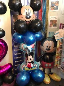 bespoke balloons for all occasions or events- mickey mouse themed balloons
