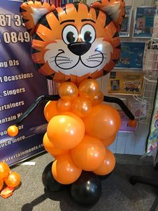 bespoke balloons for all occasions or events - tiger themed balloons