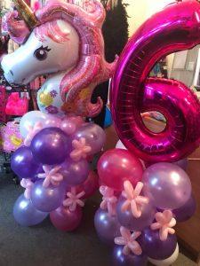 bespoke balloons - unicorn balloon spray